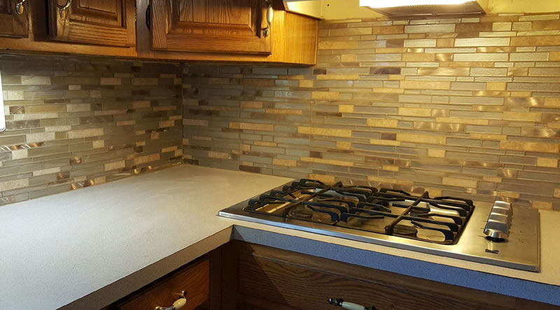 Tile Backsplash In Kitchen Installed By Buxmont GC
